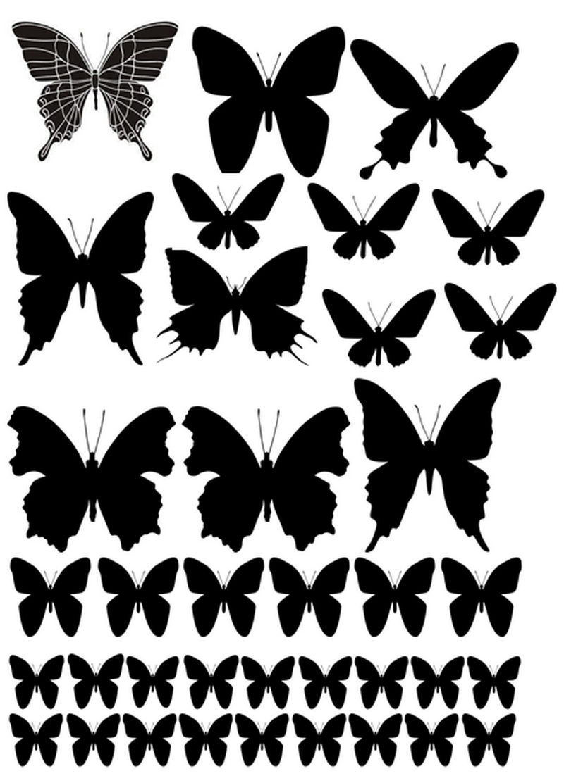 Декор стен бабочками своими руками трафарет 32
